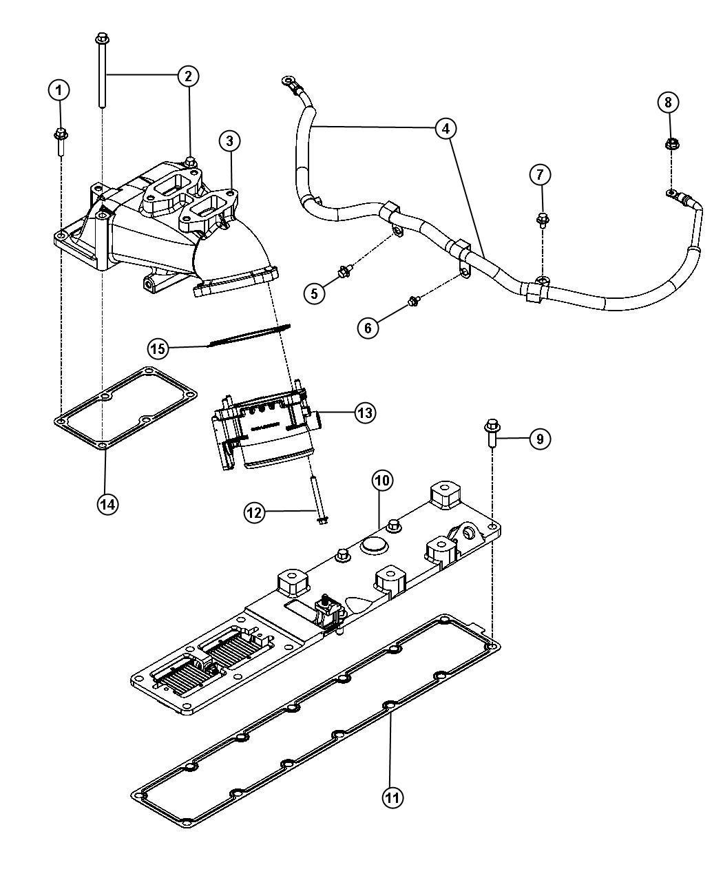 2010 Dodge Ram 2500 Wiring. Air intake heater. [export