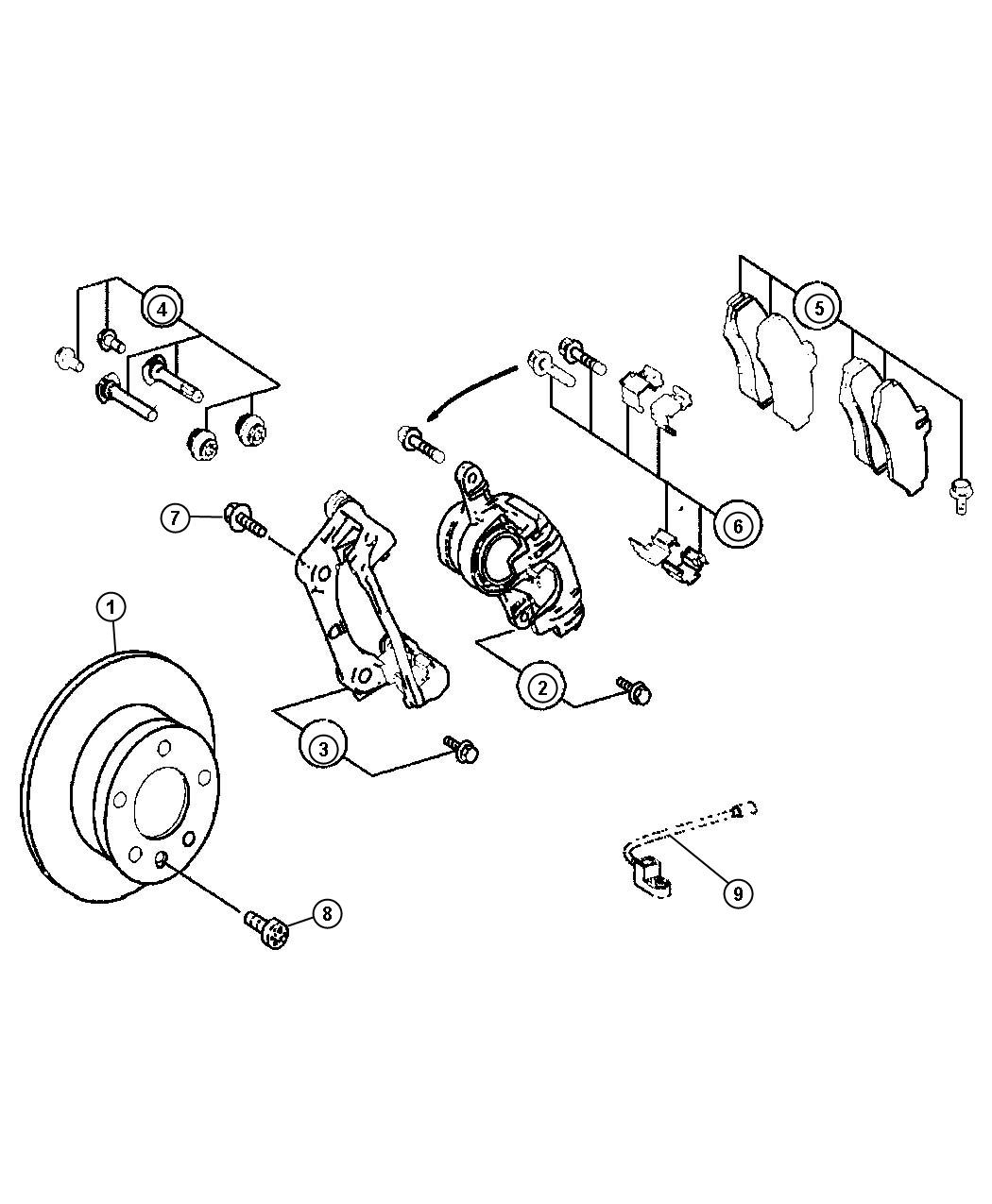 2008 Dodge SPRINTER 3500 Sensor. Brake wear. Rear. [2500
