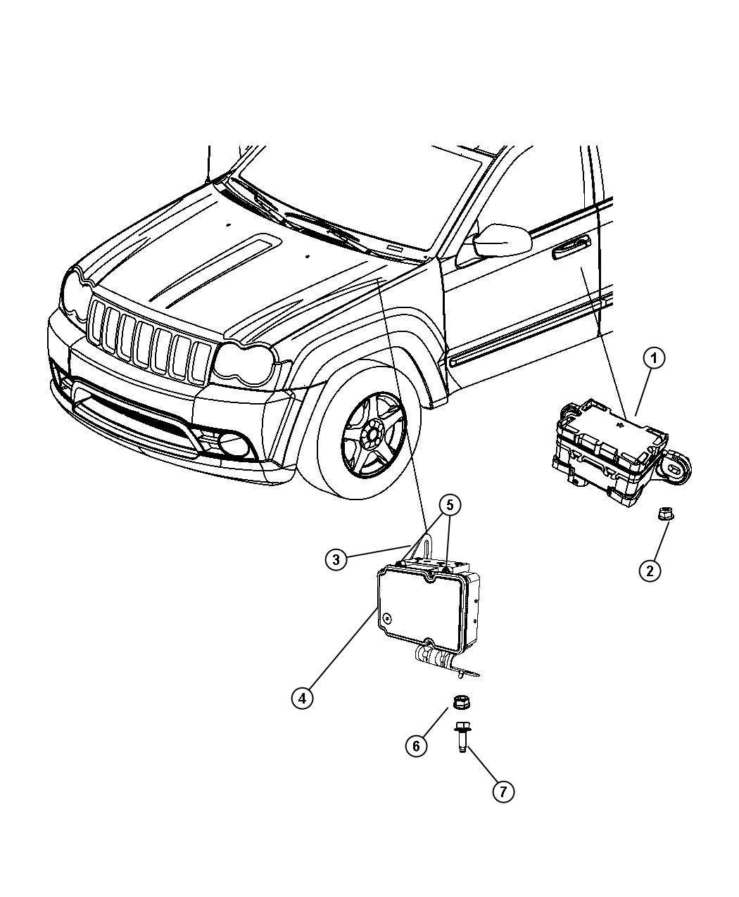 Jeep Commander Control unit. Anti-lock brake. Suspension