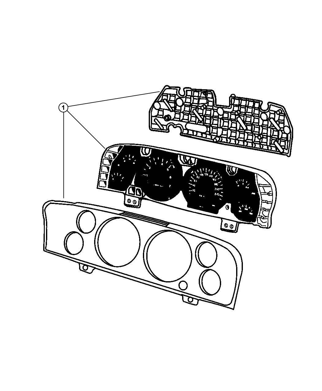 2010 Jeep Commander Cluster. Instrument panel. [middle