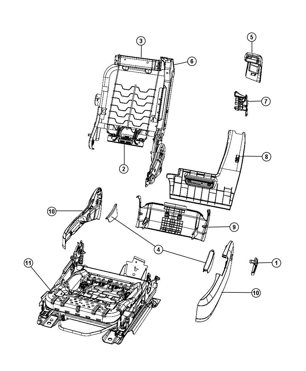 Chrysler Sebring Shield. Seat cushion. Inboard. [j1]. Trim