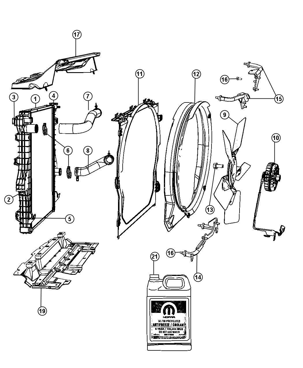 2012 Dodge Ram 2500 Isolator, isolator kit. Radiator. End