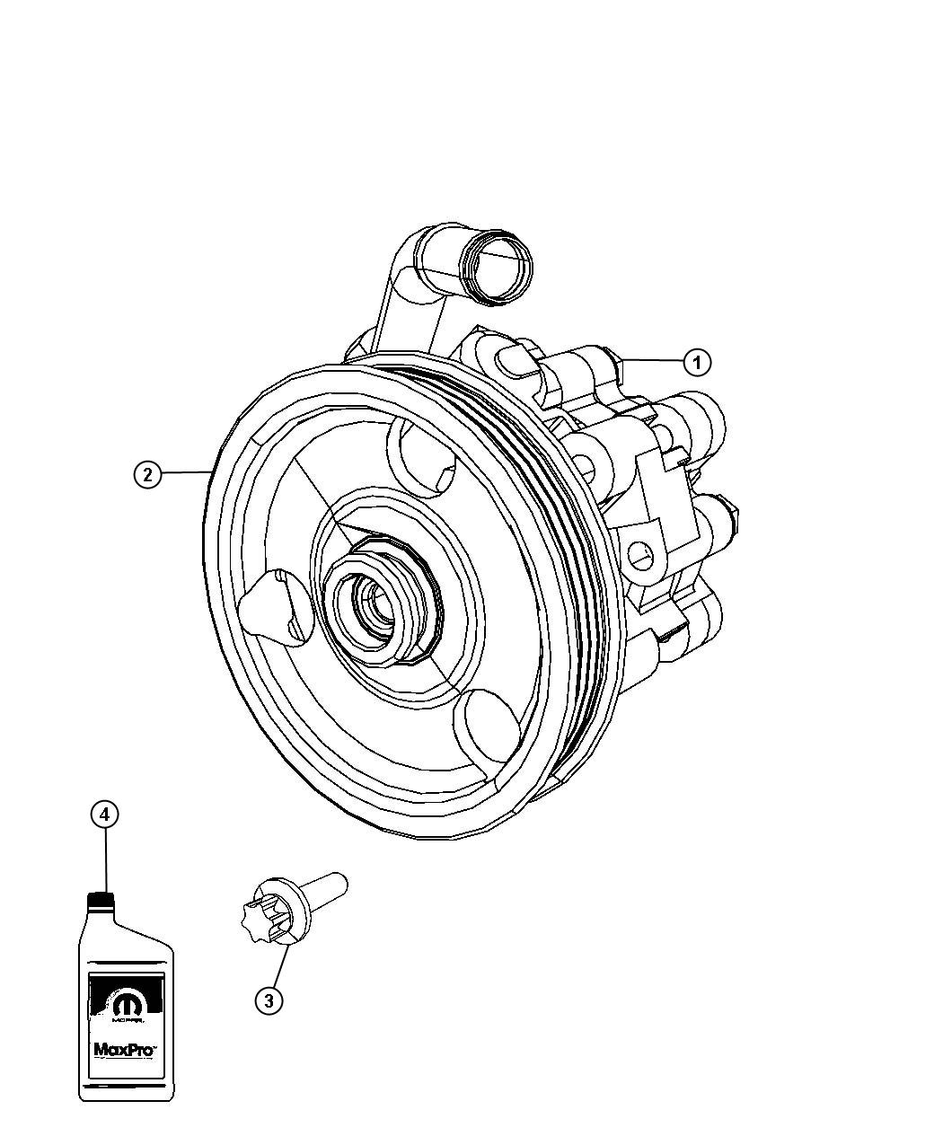 Dodge Journey Pump. Power steering. Remanufactured