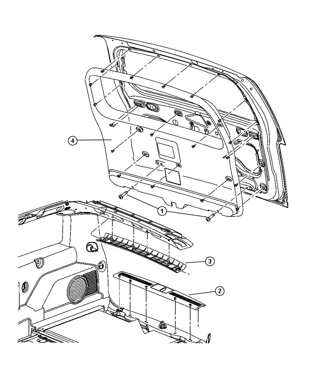 Jeep Liberty Molding. Headliner. [df], [dk], [dt], [dv