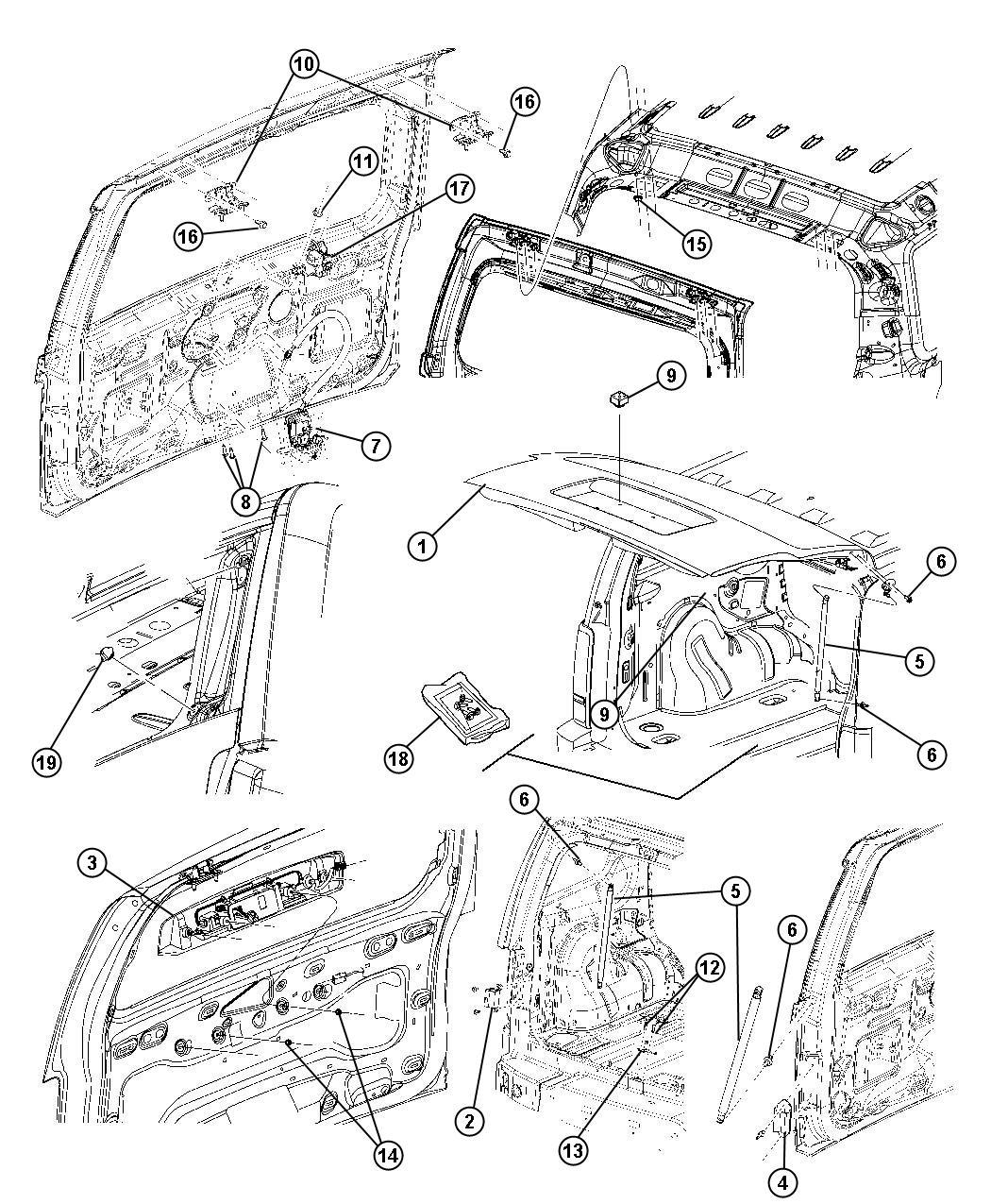 Jeep Liberty Bumper Glass Right Oval