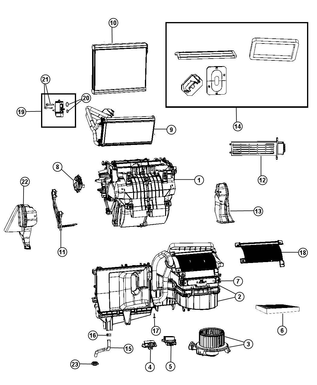 Dodge Journey Evaporator Air Conditioning Export