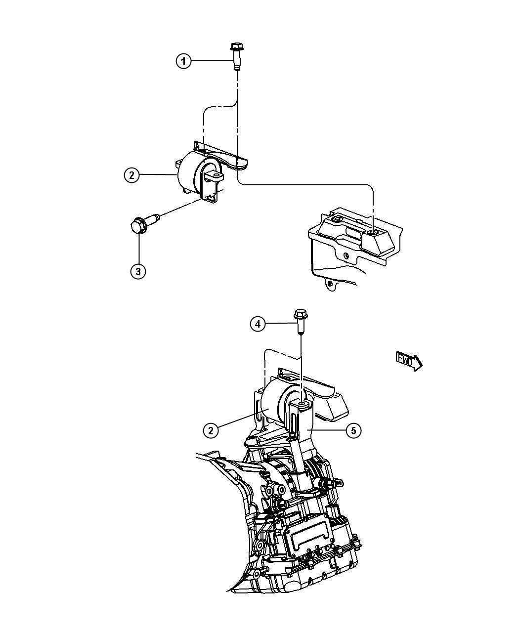 Dodge Journey Bracket. Transmission mount. Left, left side