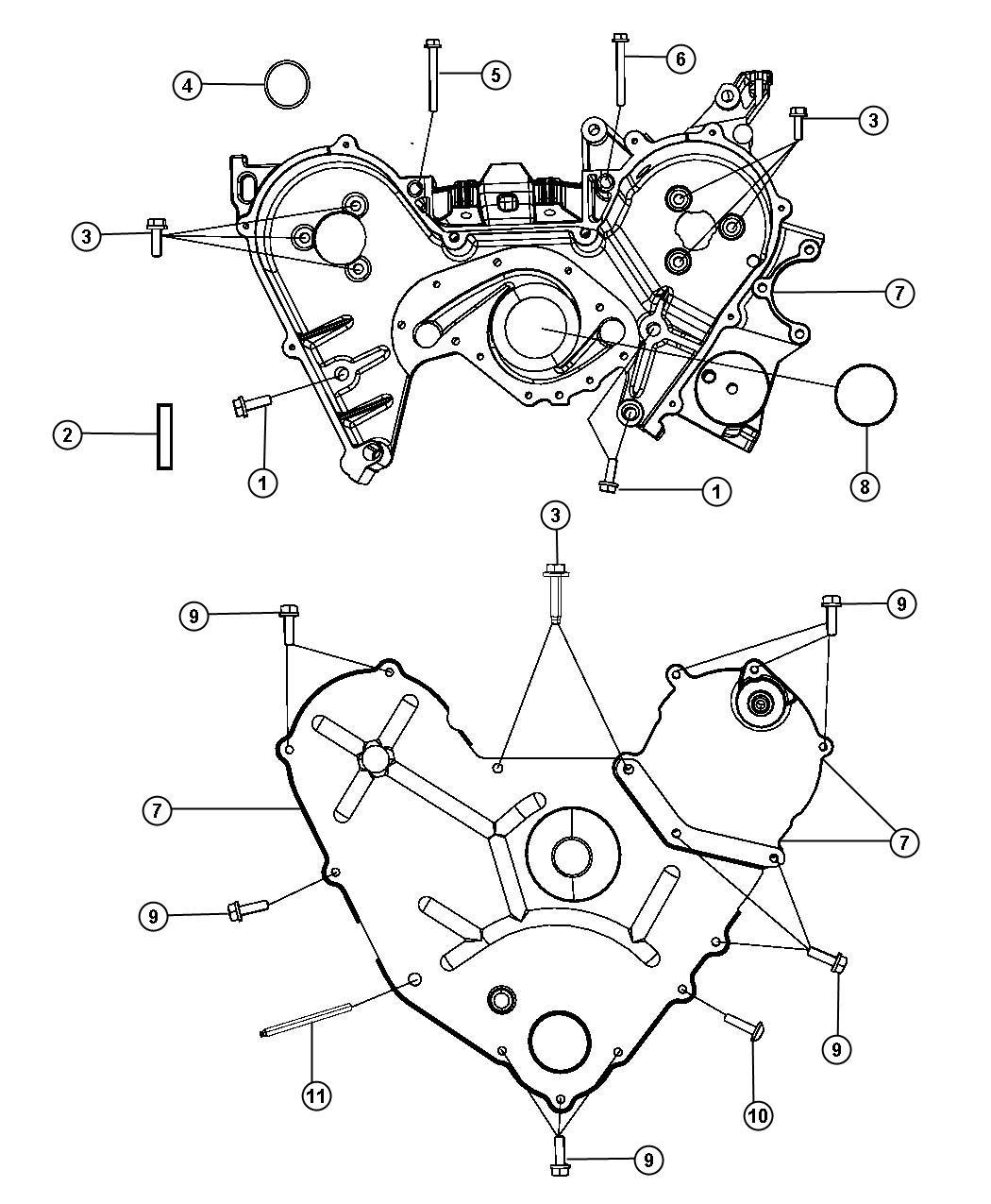 Dodge Grand Caravan Cover Outer Timing Case Belt Fuel Engine