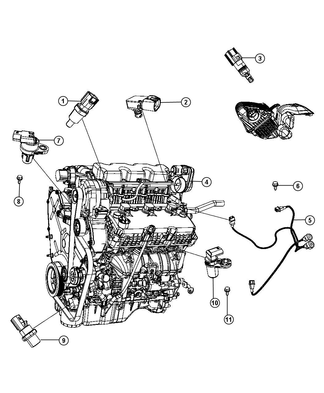 2010 Chrysler Sebring Sensor. Camshaft. [[electronic gas