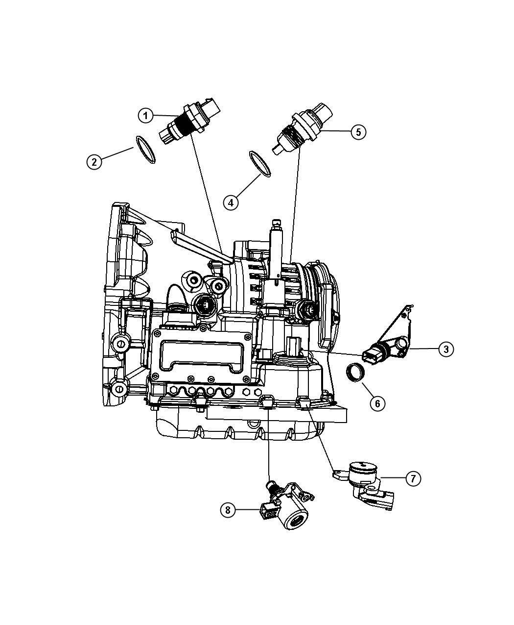 Chrysler Sebring Sensor Solenoid Trans Variable Force