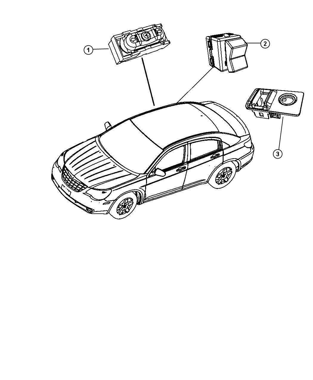 2010 Chrysler Sebring Bezel. Switch. [dv]. Trim: [all trim