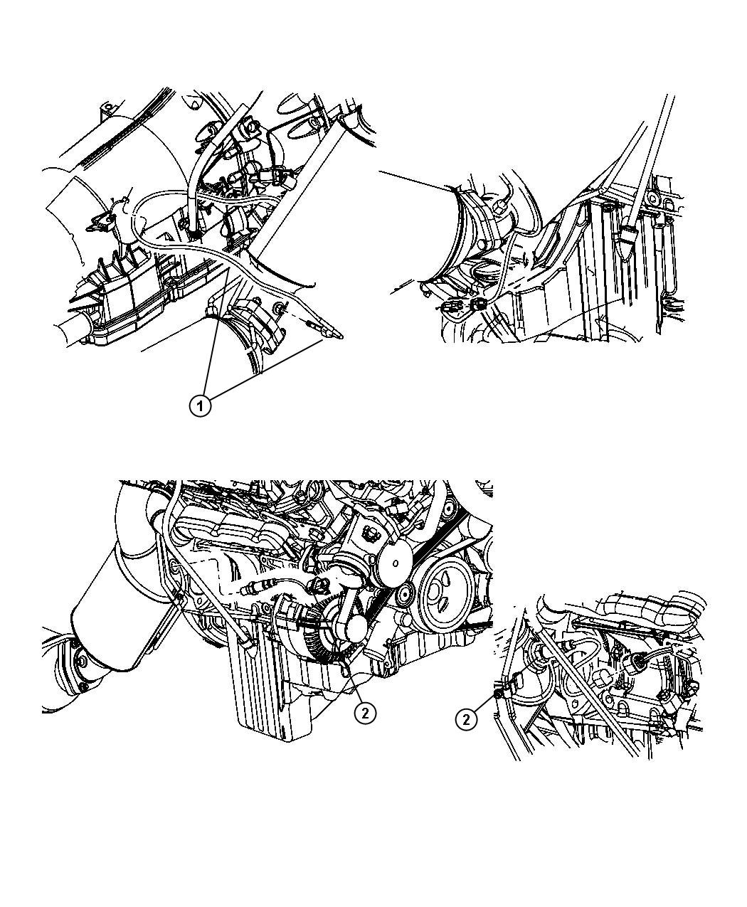 2008 Jeep Grand Cherokee Sensor. Exhaust temperature