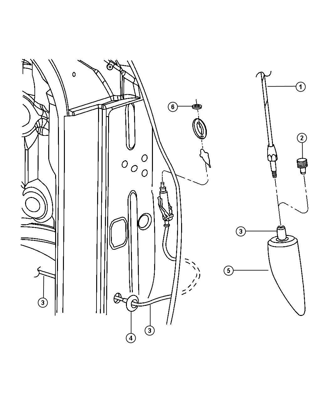Dodge Ram Cable Antenna Instrutment Panel Displaychsatin