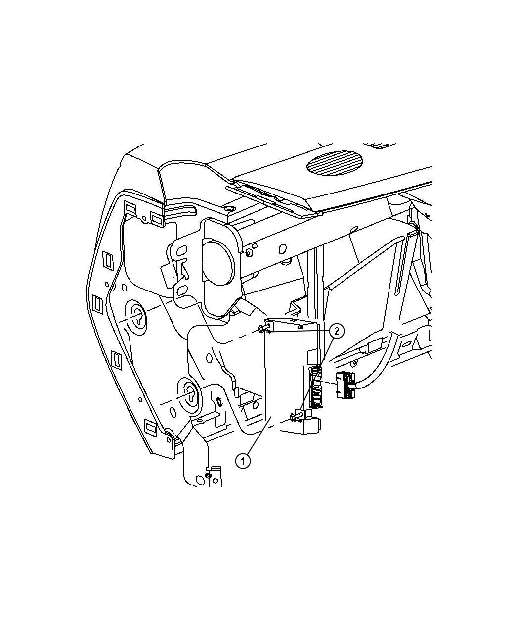 2010 Dodge Ram 1500 Module. Telematics. Uconnect, voice