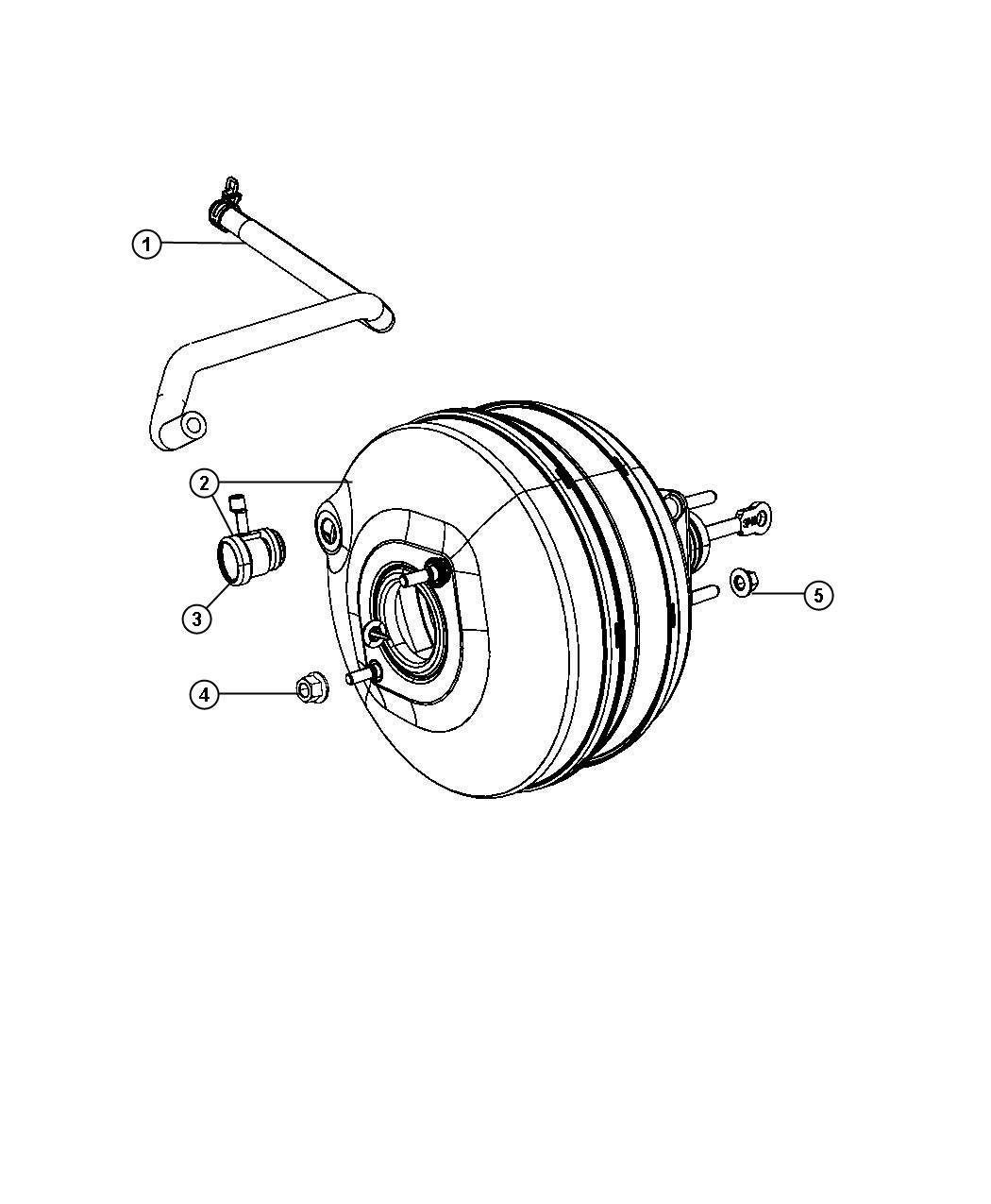 2011 Dodge Ram 1500 Hose. Brake booster vacuum. Brakes