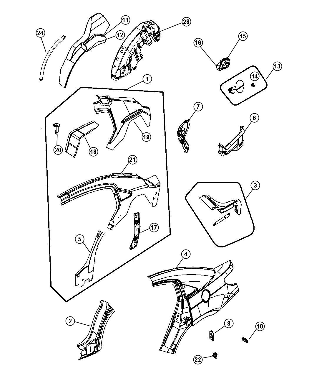 Chrysler Sebring Reinforcement Seat Belt Anchor