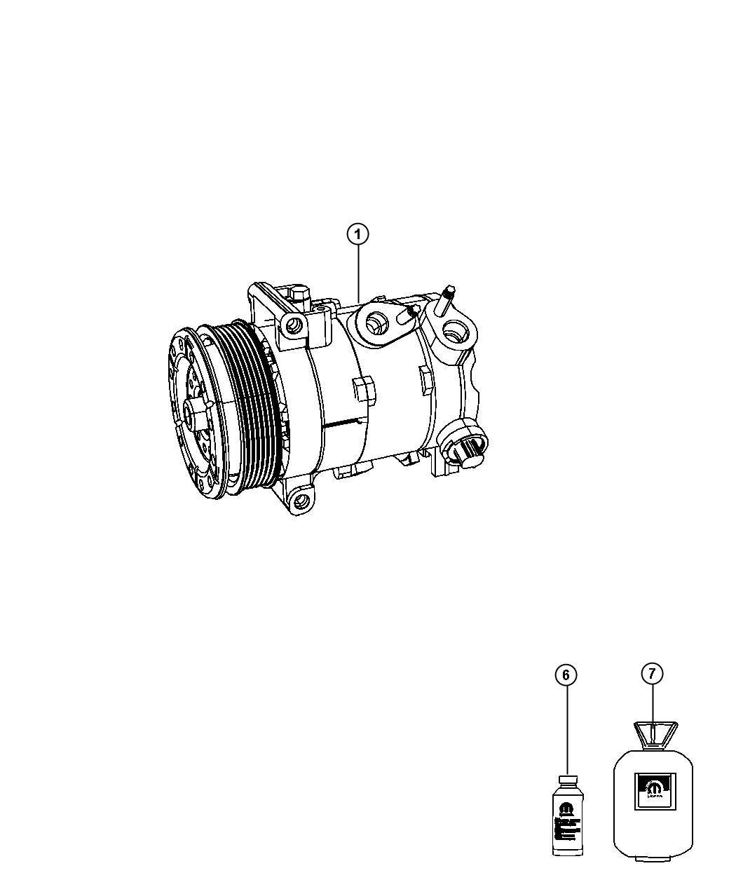 Dodge Avenger Compressor. Air conditioning. Control