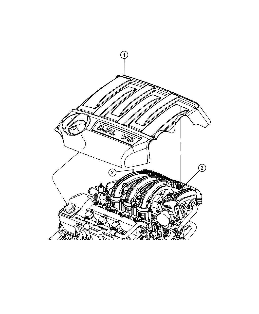 2007 Dodge Avenger Cover. Engine. Export rhd. Eer