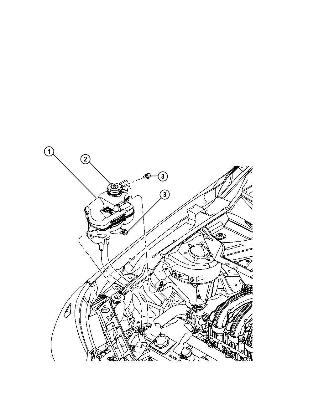 Chrysler Sebring Bottle. Pressurized coolant. Cooling