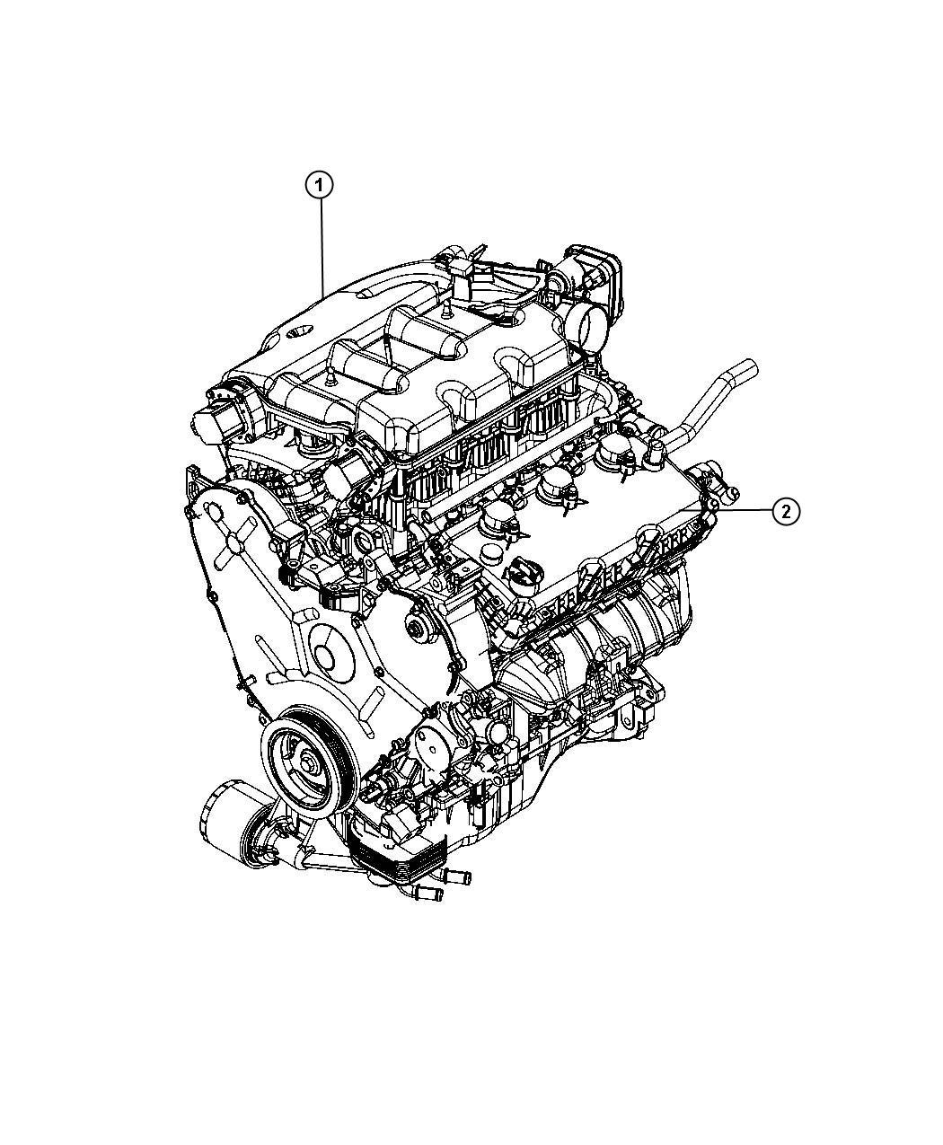 2010 Chrysler Sebring Engine. Long block. Remanufactured