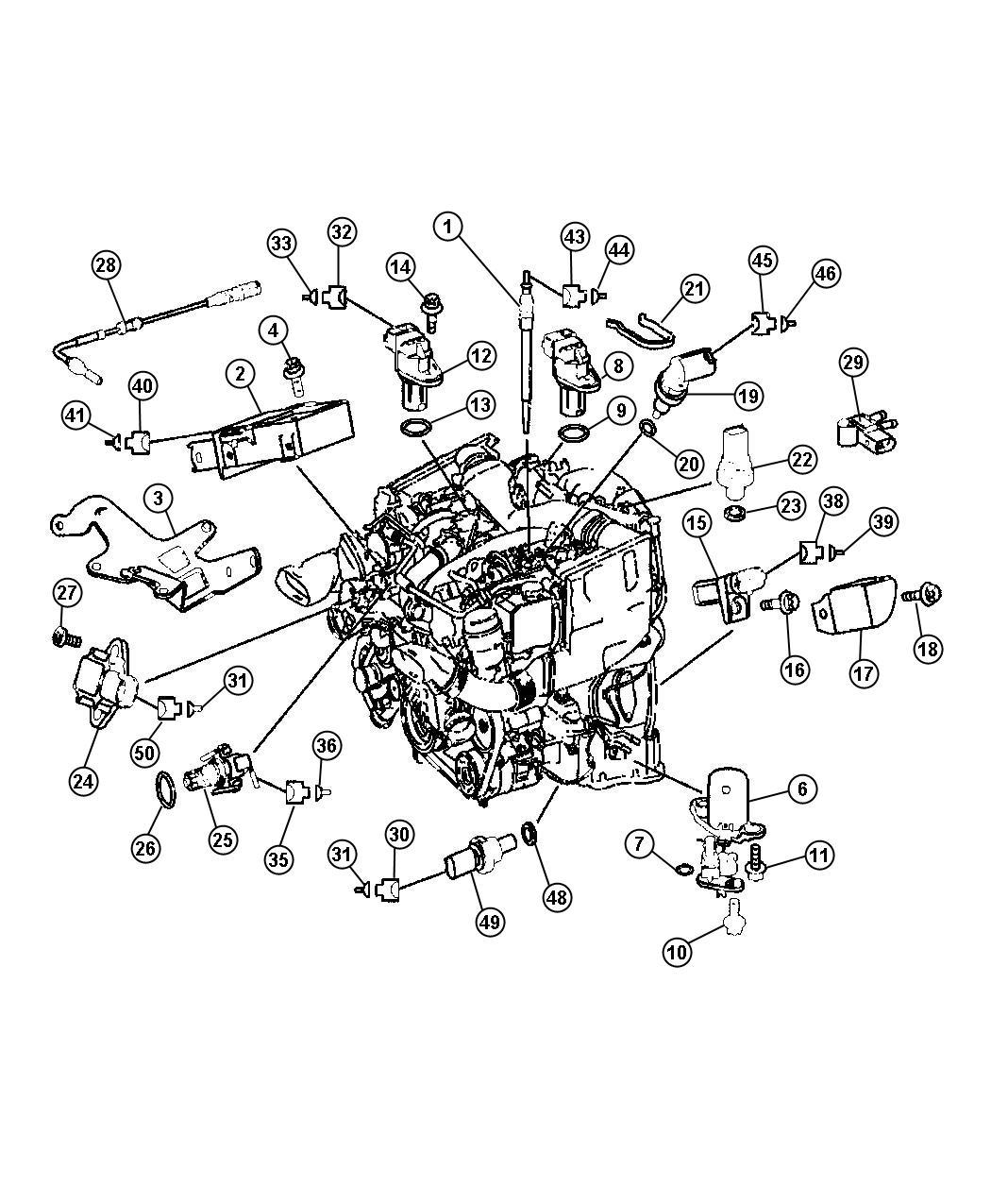 2008 Dodge Sprinter 2500 Module. Glow plug. Plugs, engine