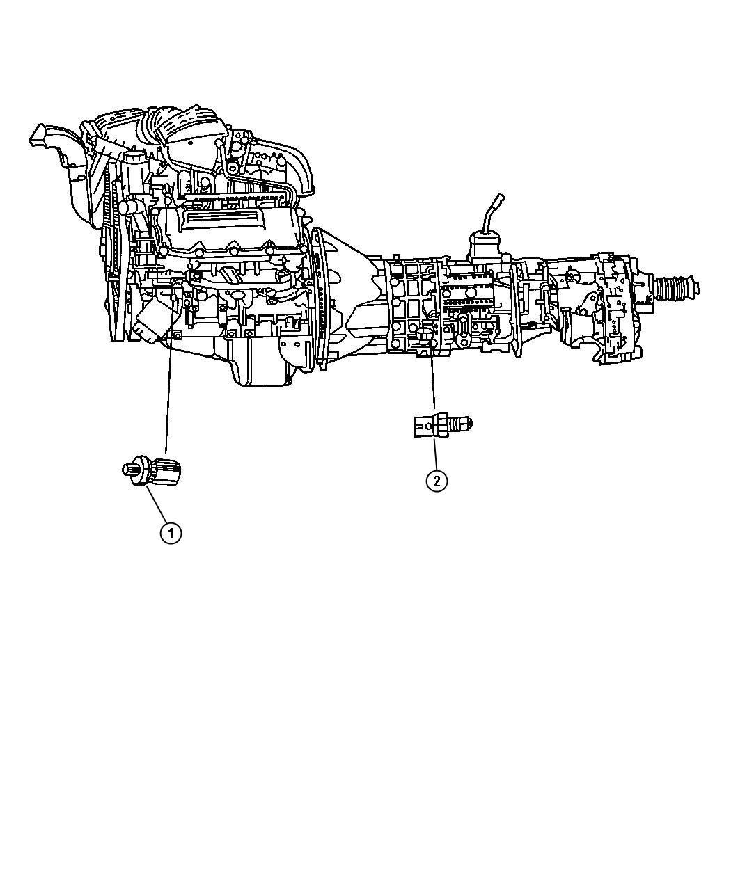 Jeep Liberty Sending unit, sensor. Oil pressure