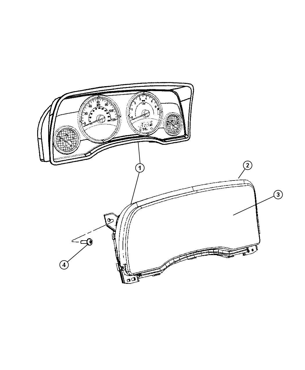 Jeep Patriot Cluster. Instrument panel. Speedometer, speed