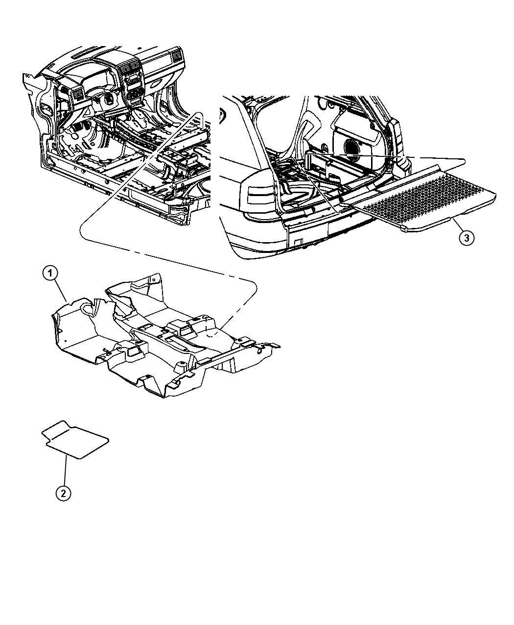 Jeep Compass Carpet. Floor. [dv], [v3]. Trim: [all trim