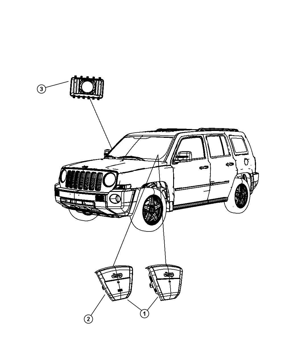 Jeep Patriot Air Bag Driver Trim All Trim Codes Color