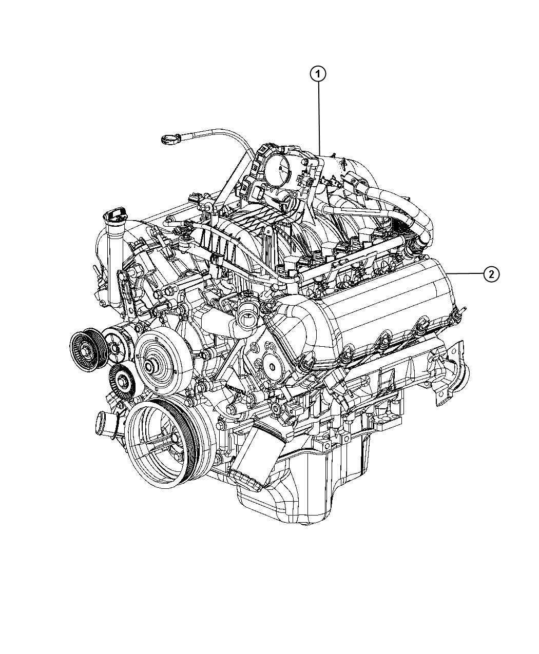 Jeep Liberty Engine. Long block. Remanufactured. Service