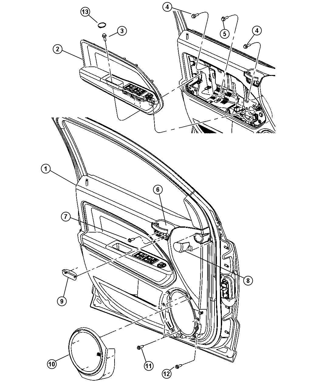 2010 Dodge Caliber Plug. Door trim panel. Right. [dv], [v3