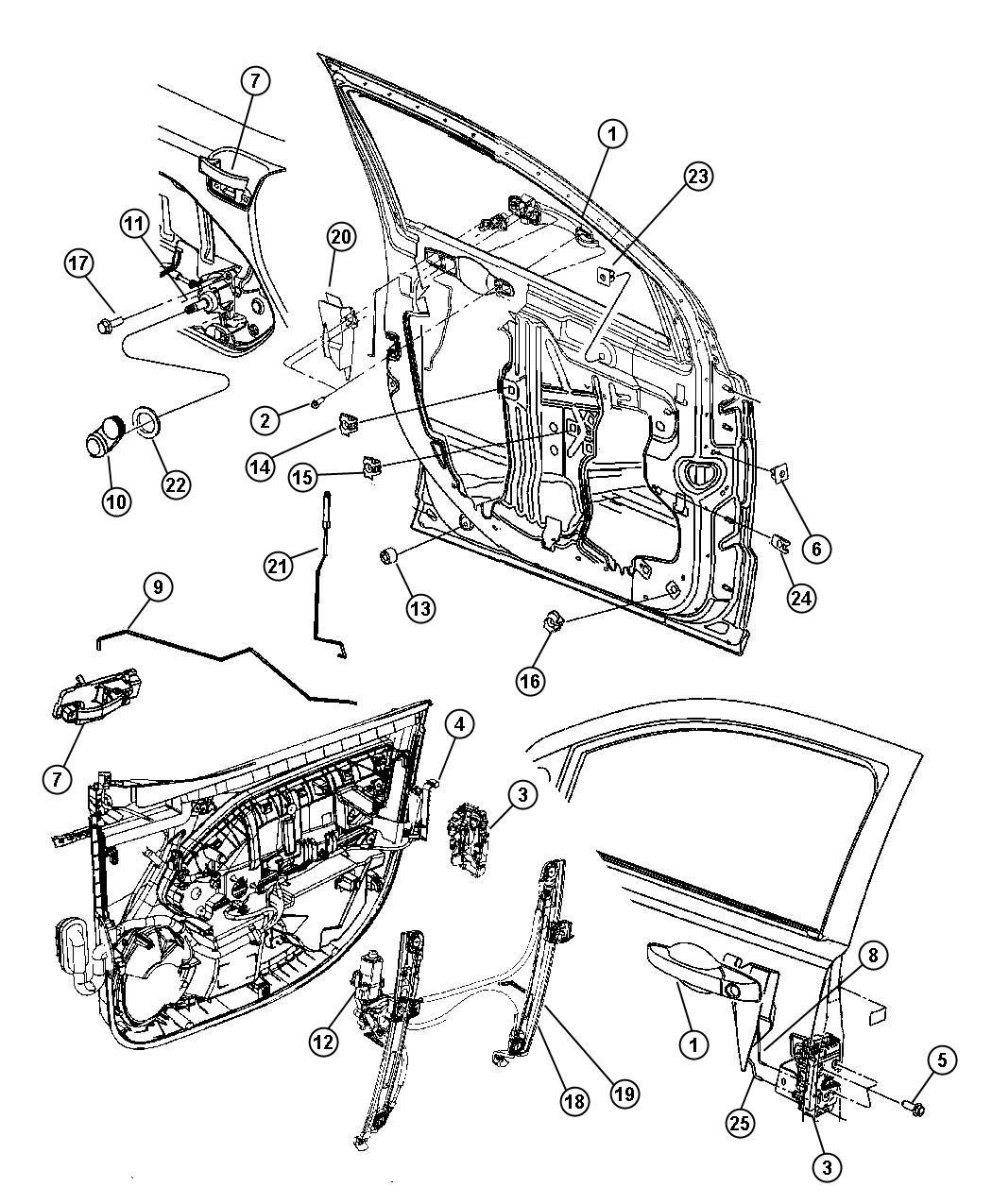Dodge Caliber Screw. Hex flange head, trim. M6x1.00x50.00