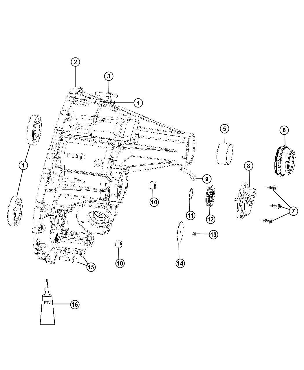 Dodge Durango Case Transfer Case Rear Dhr