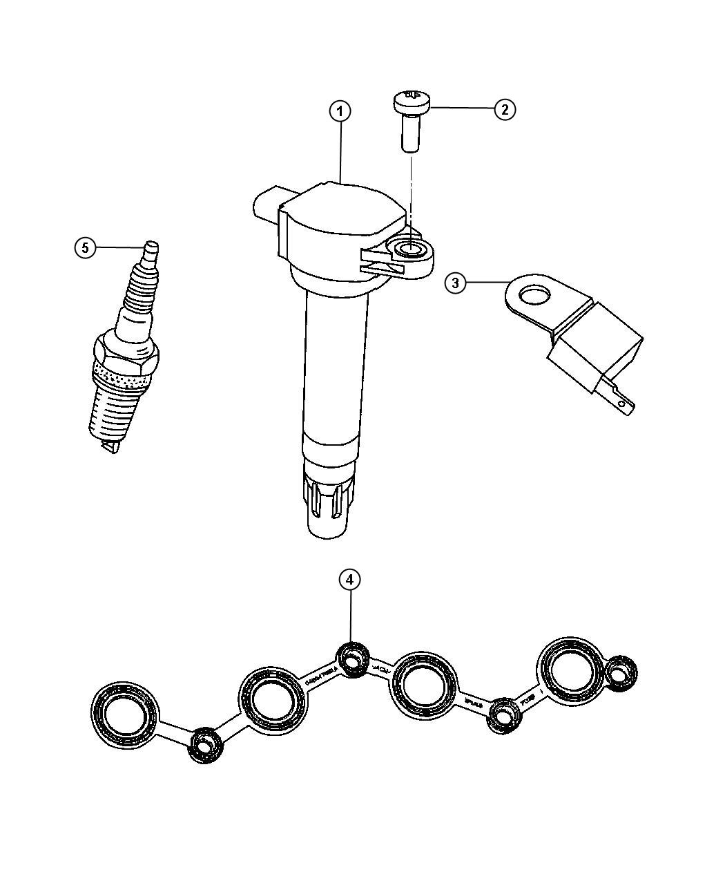 Dodge Caliber Coil Ignition Spark Plugs Module