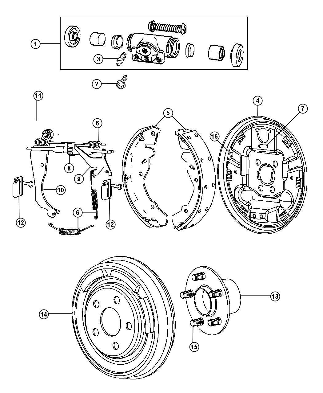 Dodge Caliber Plug Brake Adjusting Hole Left Right Anti Lock Frt Disc Rr Drum