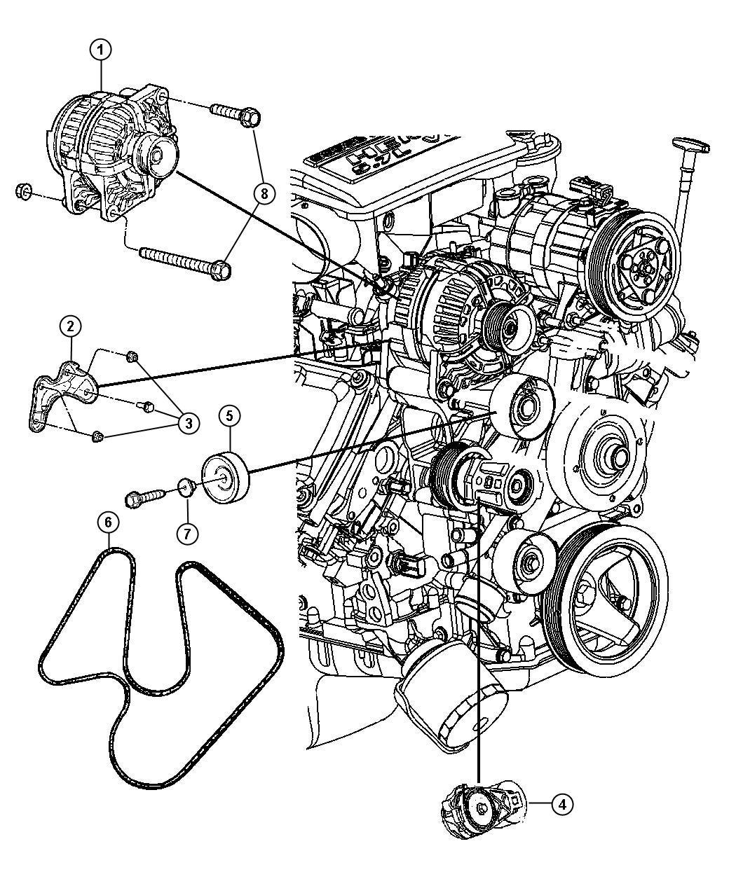 Dodge Ram 2500 Belt. Serpentine. Belts, engine, alternator