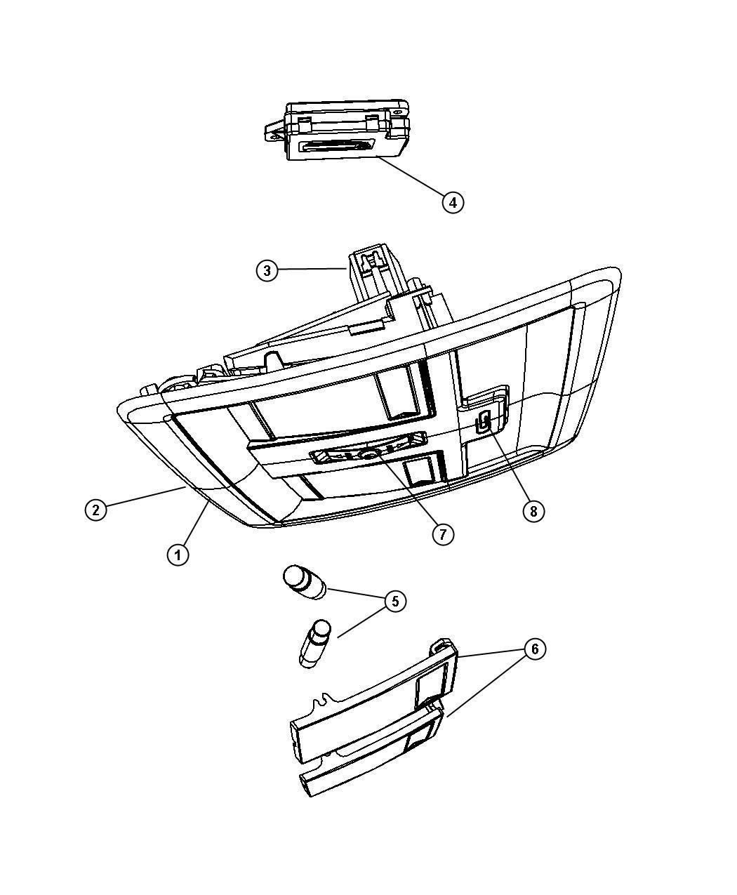 Jeep Liberty Housing Overhead Console Trim All Trim