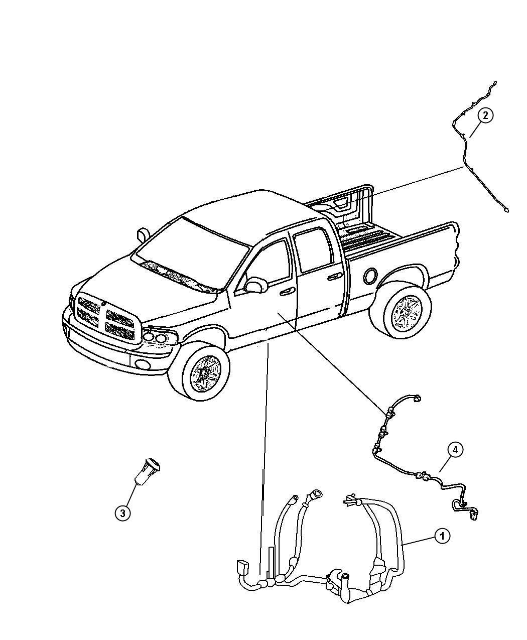 Dodge Ram 3500 Wiring. Body. [[heated second row seats