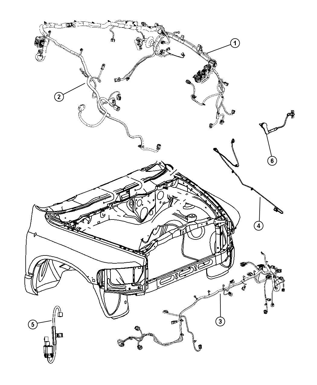 Dodge Ram 3500 Wiring. Dash. Left. [man shift-on-the-fly