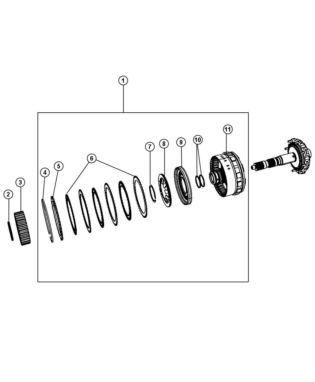Chrysler Sebring Clutch assembly. Overrunning clutch. Gear