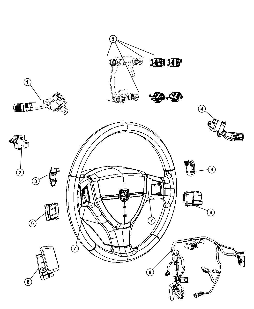 Dodge Ram Wiring Steering Wheel Trim All