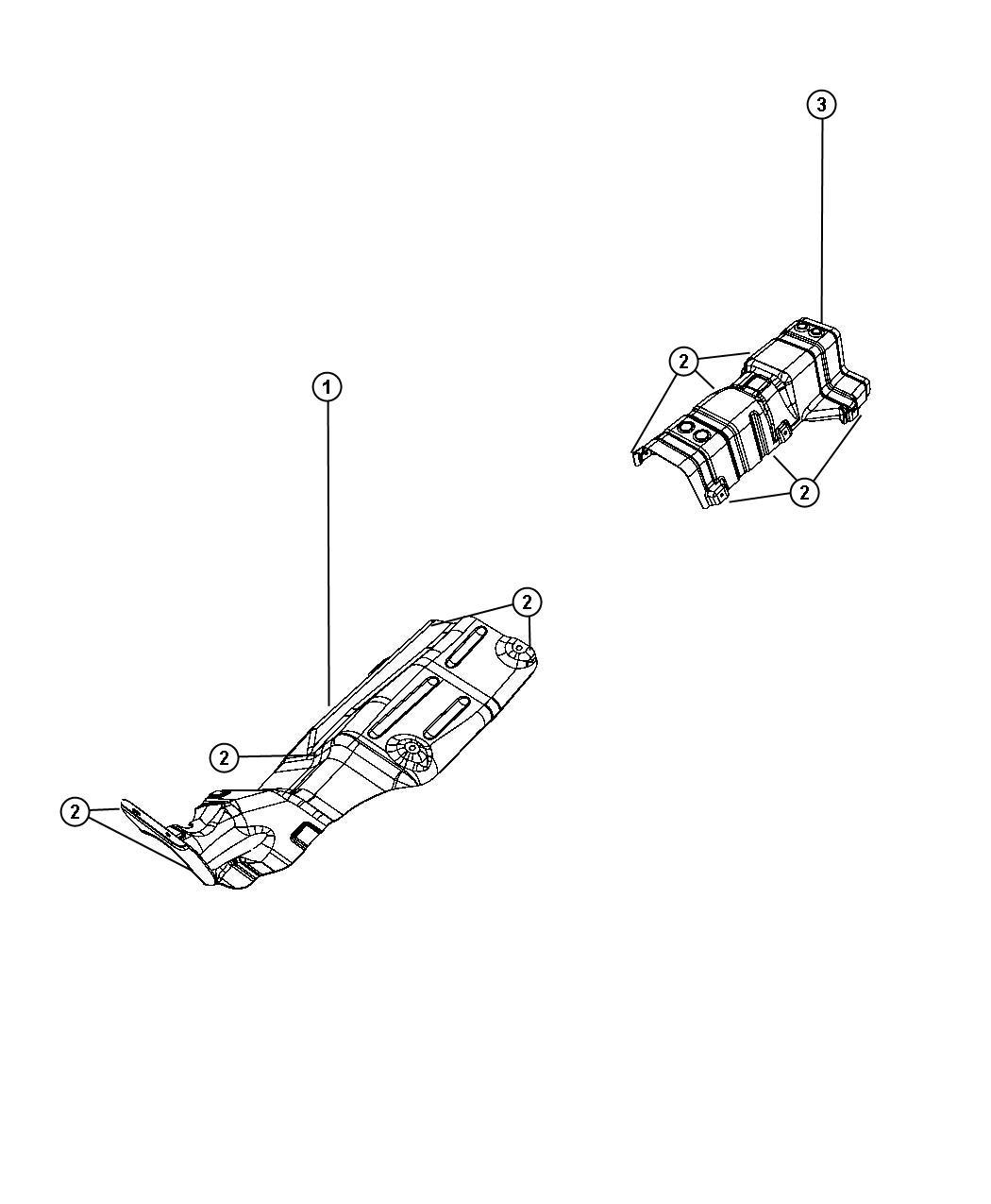 Dodge Journey Shield Converter Heat Catalytic