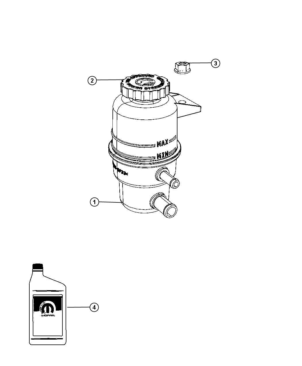Chrysler Town Amp Country Reservoir Power Steering Fluid