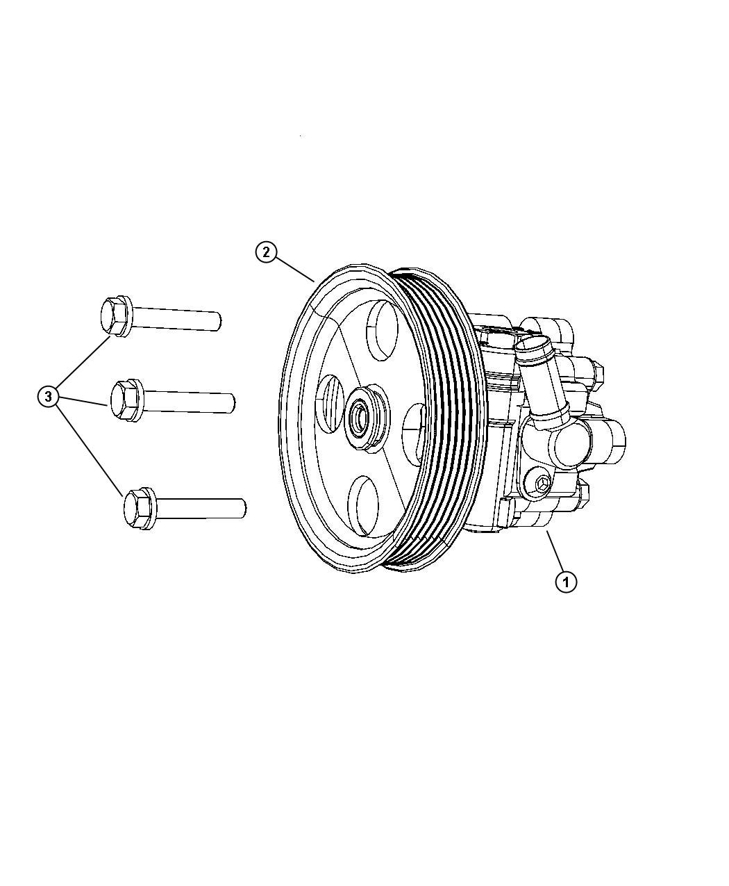 2010 Chrysler Town & Country Pump. Power steering