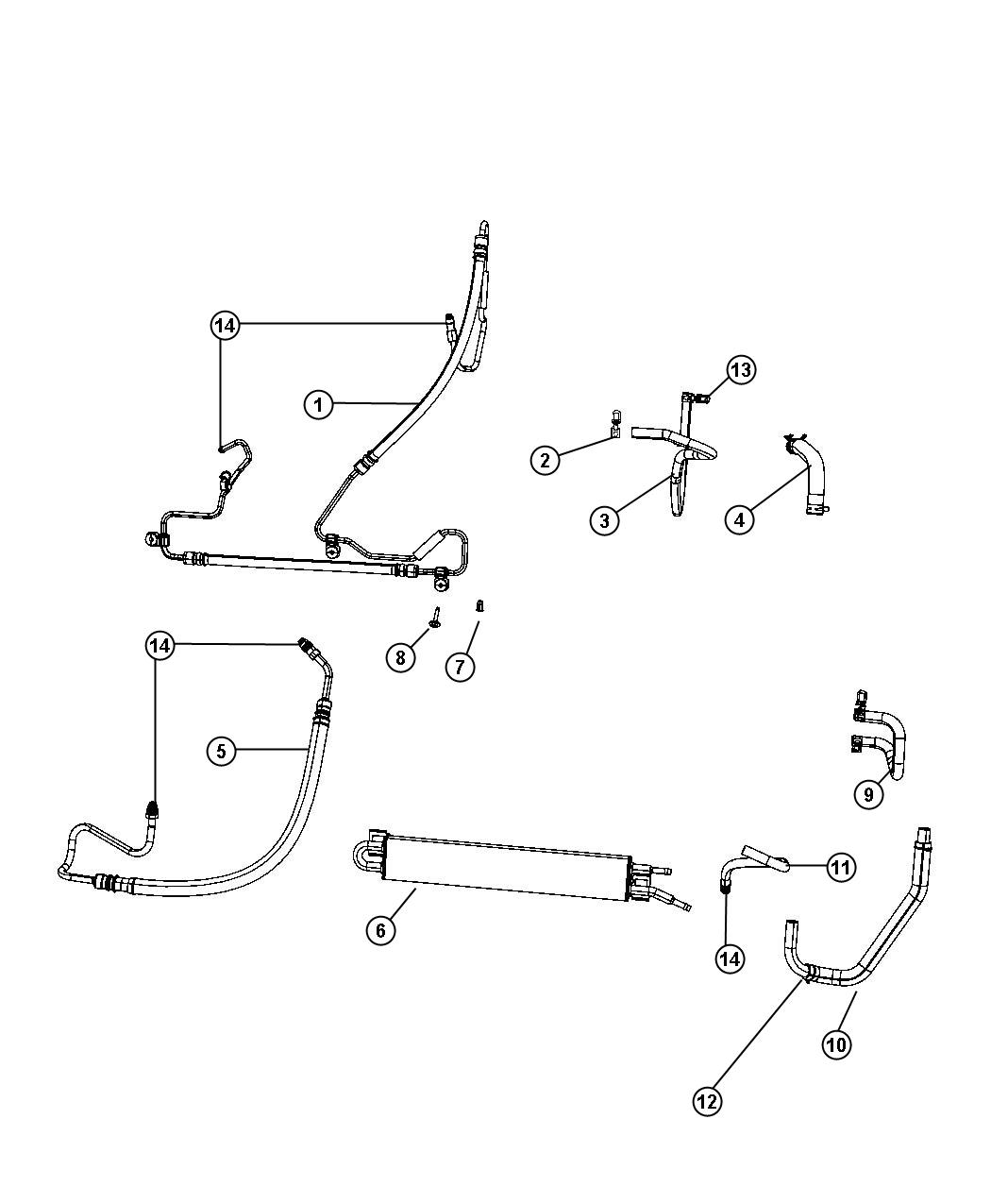 Jeep Grand Cherokee Hose. Power steering return