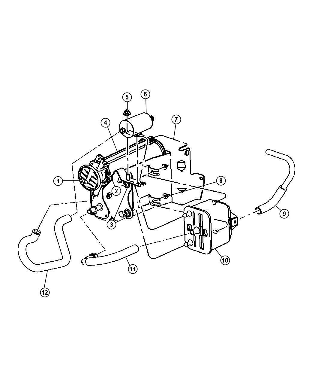 2012 Dodge Ram 2500 Filter. Leak detection pump