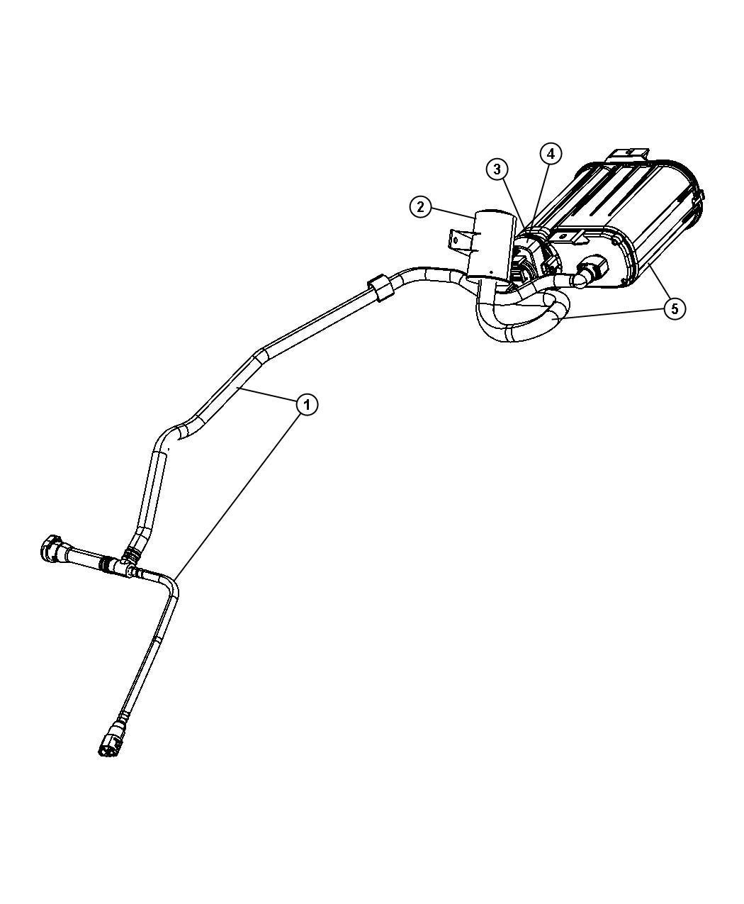 Dodge Avenger Filter. Fuel vapor vent. Canister, pump