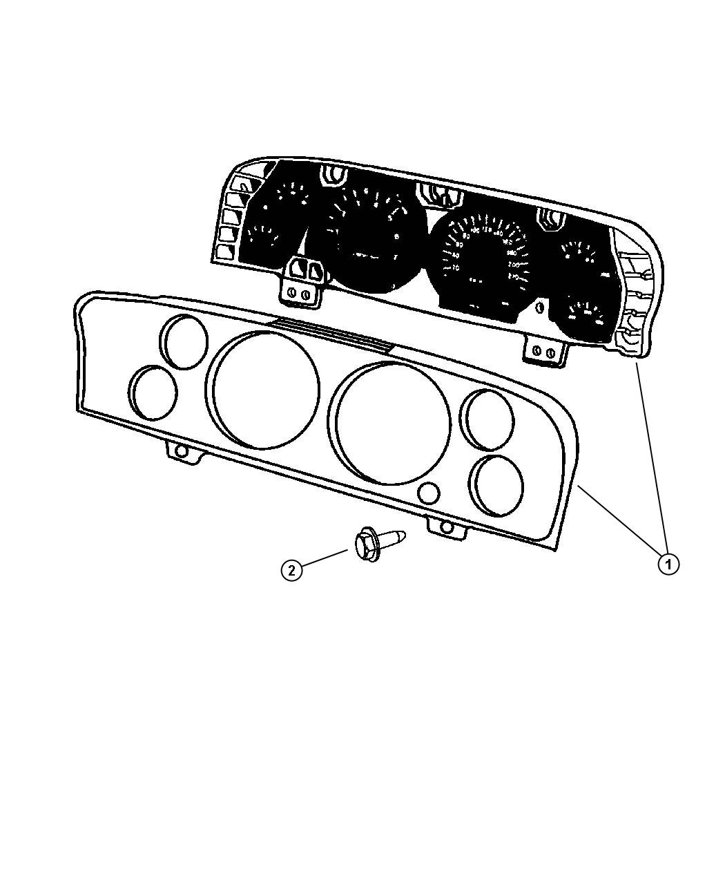 Dodge Ram Cluster Instrument Panel Instrument