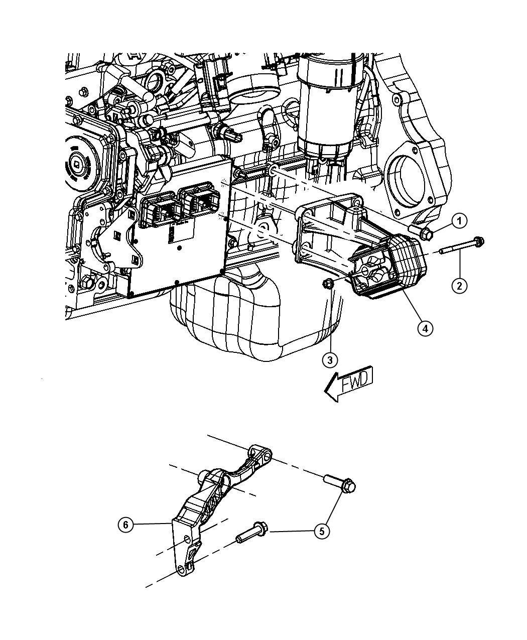 2010 Dodge Ram 5500 Bracket. Engine mount. Left, left side