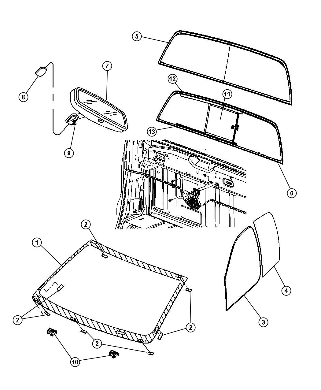 Dodge Ram Windshield Shipping Assembly